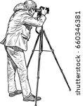 a professional photographer... | Shutterstock .eps vector #660346381