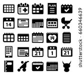 calendar icons set. set of 25... | Shutterstock .eps vector #660346639