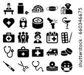 doctor icons set. set of 25... | Shutterstock .eps vector #660346675