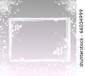 wedding invitation with floral... | Shutterstock . vector #66034999
