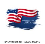 fourth of july independence day.... | Shutterstock .eps vector #660350347