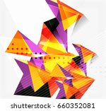 3d triangles and pyramids ... | Shutterstock .eps vector #660352081