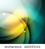 overlapping circles on glowing... | Shutterstock . vector #660355141