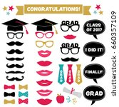graduation party vector set ... | Shutterstock .eps vector #660357109