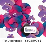 abstract color geometric round...   Shutterstock . vector #660359761