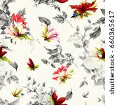 seamless background pattern.... | Shutterstock .eps vector #660365617