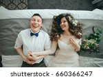 stylish bride and groom are... | Shutterstock . vector #660366247