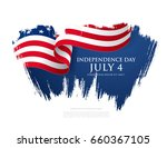 fourth of july independence day.... | Shutterstock .eps vector #660367105