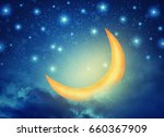 abstract night fairy background ...   Shutterstock . vector #660367909