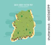 south korea vector map | Shutterstock .eps vector #660368599