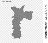 high quality map of sao paolo... | Shutterstock .eps vector #660373771