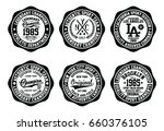 nyc college graphic set ... | Shutterstock .eps vector #660376105