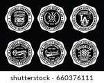 nyc college graphic set ...   Shutterstock .eps vector #660376111
