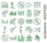 music icons set. set of 25...