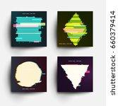 set of abstract design... | Shutterstock .eps vector #660379414