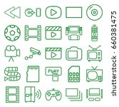 video icons set. set of 25... | Shutterstock .eps vector #660381475