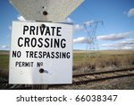 Sign Warning Of A Private...
