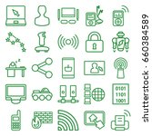 computer icons set. set of 25... | Shutterstock .eps vector #660384589