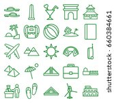 tourism icons set. set of 25... | Shutterstock .eps vector #660384661