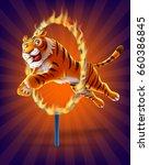 tiger circus | Shutterstock .eps vector #660386845