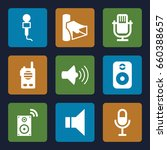 voice icons set. set of 9 voice ... | Shutterstock .eps vector #660388657