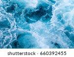 sea water ship trail with foamy ... | Shutterstock . vector #660392455