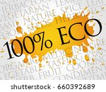 100  eco word cloud collage ... | Shutterstock . vector #660392689