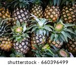pineapple  | Shutterstock . vector #660396499