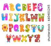 colorful cartoon children...   Shutterstock .eps vector #660401245