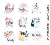 beauty salon logo design  set