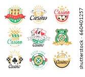 casino premium logo design  set ...   Shutterstock .eps vector #660401257