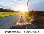 Motorbike Riders Driving...