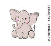cute hand drawn cartoon... | Shutterstock .eps vector #660404857