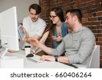 executives discussing over...   Shutterstock . vector #660406264