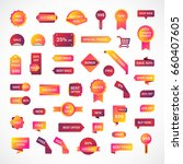 vector stickers  price tag ... | Shutterstock .eps vector #660407605