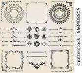 vintage set of vector... | Shutterstock .eps vector #660408859