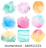 set of watercolor backgrounds... | Shutterstock . vector #660411121