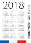 calendar 2018 year   french... | Shutterstock .eps vector #660412711