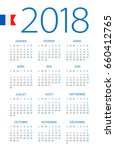 calendar 2018 year   french... | Shutterstock .eps vector #660412765