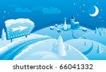 christmas landscape background... | Shutterstock .eps vector #66041332