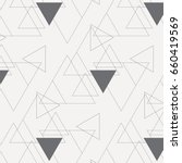 linear triangle vector pattern. ... | Shutterstock .eps vector #660419569