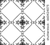 vintage style seamless pattern. ... | Shutterstock .eps vector #660424075