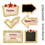 big set of retro frames with... | Shutterstock .eps vector #660424825
