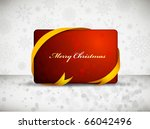 red christmas gift card with... | Shutterstock .eps vector #66042496