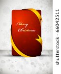 red christmas gift card with... | Shutterstock .eps vector #66042511
