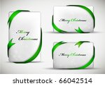 christmas gift card with green... | Shutterstock .eps vector #66042514