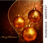 elegant christmas background... | Shutterstock .eps vector #66042517