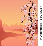 japan vector background | Shutterstock .eps vector #66043264