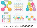 set with infographics. data and ... | Shutterstock .eps vector #660434335