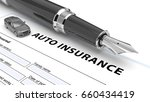 auto insurance policy. 3d... | Shutterstock . vector #660434419